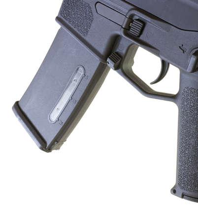 desencadenar: Revista negra y desencadenador en un arma de asalto aislado
