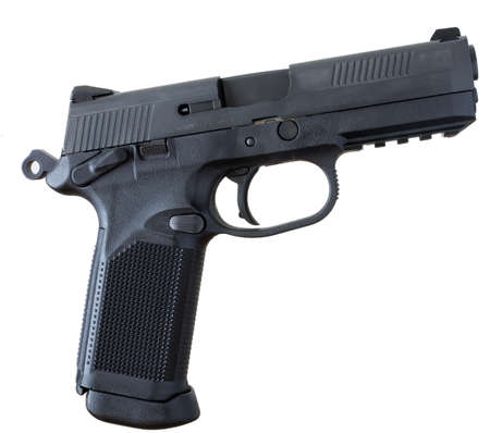pistol that has a polymer frame and steel slide Stock Photo - 9030421