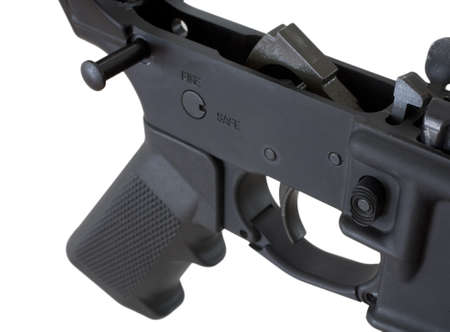 Bottom half of a modern assault rifle that is field stripped Stock Photo - 9998652