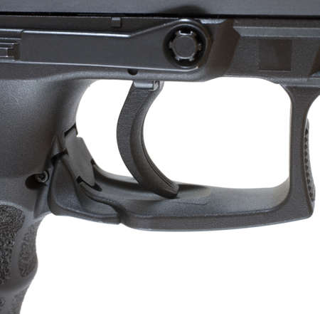Trigger and triggerguard that is on a polymer framed pistol Stock Photo - 10079108