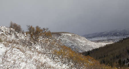 ridgeline: View from a snowy ridgeline as another storm moves in