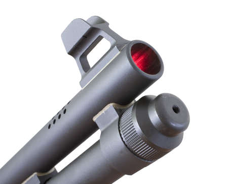porting: Shotgun muzzle that is isolated but inside its glowing red