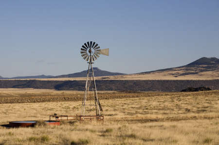ranching: Old fashioned windmill on a ranch in New Mexico at work