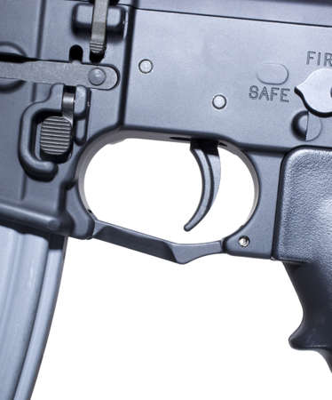trigger: Modern assault rifle trigger with the safety engaged
