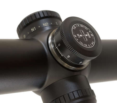 Knob on a tactical rifle scope designed to adjust the elevation