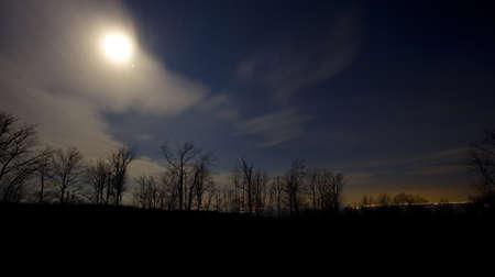 winchester: Luna come si scende sulla cresta blu sopra Winchester Virginia