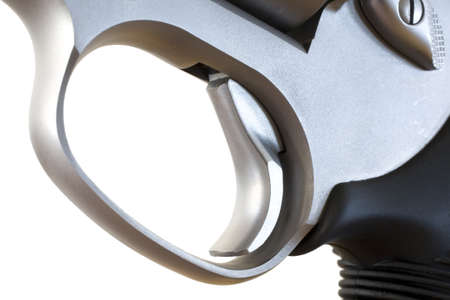 Double action revolver trigger that is back in single action mode Stock Photo - 16789050