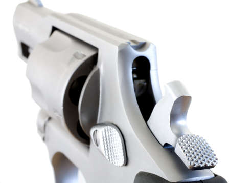 Double action revolver that has its hammer back ready to fire Stock Photo - 17004696