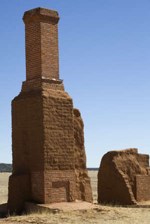 Crumbling remains of an old Army fort in New Mexico