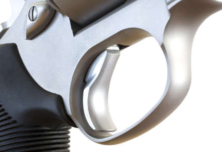 Trigger and triggerguard on a double action revolver Stock Photo - 17043217