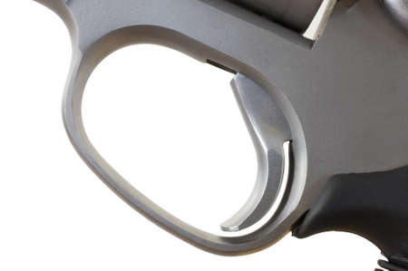 Trigger on a handgun that is back in the single action position Stock Photo - 17080999