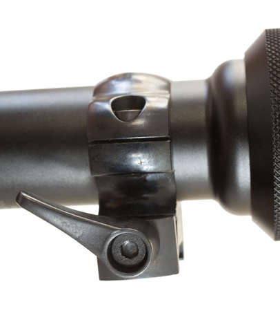 Rifle scope mount that allows it to be taken off fast 版權商用圖片