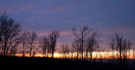 winchester: Sole che tramonta sulla citt� di Winchester Virginia in inverno