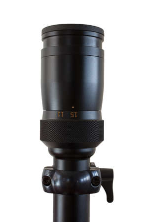 Magnification set on a rifle scope to fifteen power