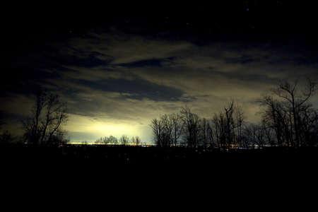 winchester: Vista dal Blue Ridge oltre Winchester Virginia di notte
