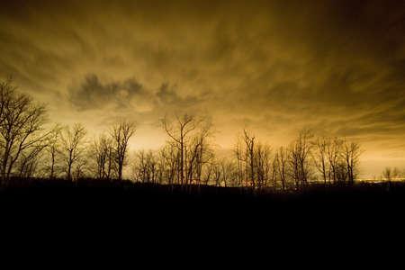 winchester: Copertura nuvolosa che riflette le luci della Winchester Virginia di notte