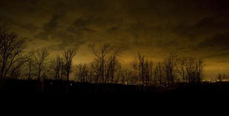 winchester: Winchester Virginia di notte vista dal Blue Ridge