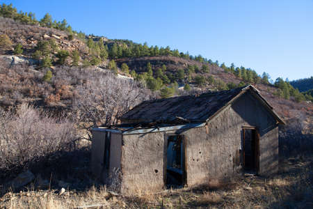 shambles: Old mining home that has been abandoned and is crumbling