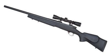 reliably: Rifle that is set up to make mid range shots reliably
