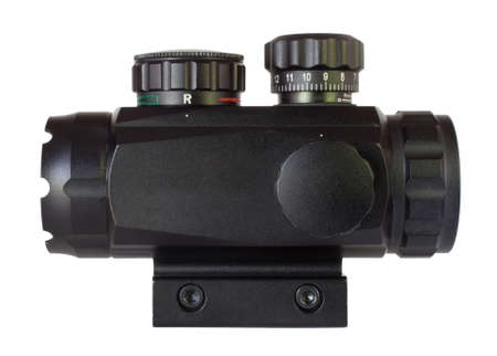 close range: Small scope used on a rifle for close range work Stock Photo