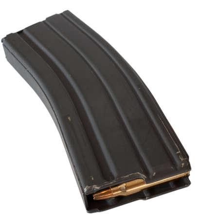 金属内部のカートリッジと assualt ライフルのための雑誌 写真素材 - 21944777
