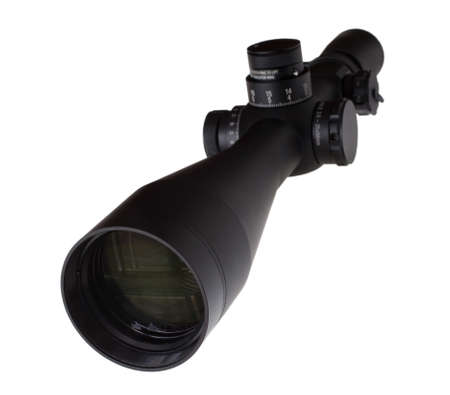 high powered: Scope that is used on a high powered rifle Stock Photo