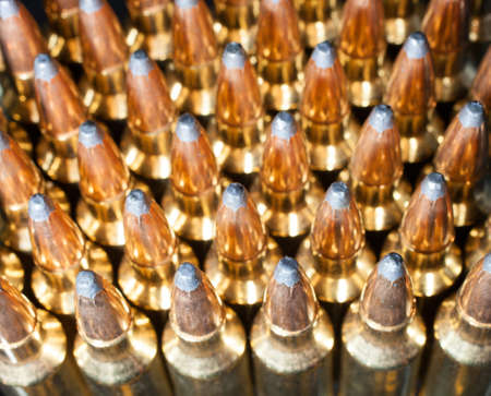 high powered: High powered rifle cartridges that are highly reflective