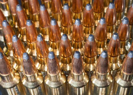 brassy: Shiny and brassy cartridges that will go into a rifle