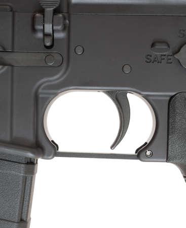 gatillo: Gatillo y sus componentes que se utilizan en un rifle de asalto