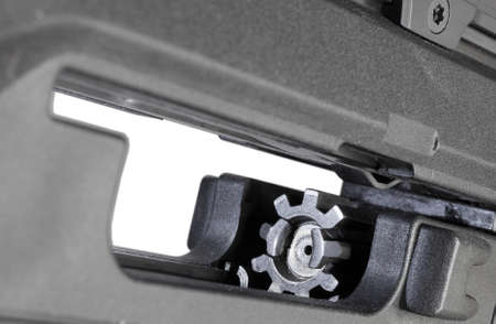 Bolt and bolt carrier in the receiver of a semi automatic rifle