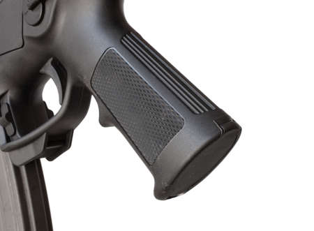 grip: Pistol grip on the back of a modern sporting rifle