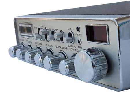 cb: CB radio designed for a vehicle isolated on white Stock Photo