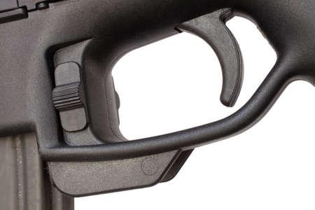 トリガー: Trigger and trigger guard on a modern sporting rifle 写真素材
