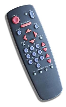 テレビで衛星通信に使用されるリモート コントロール 写真素材