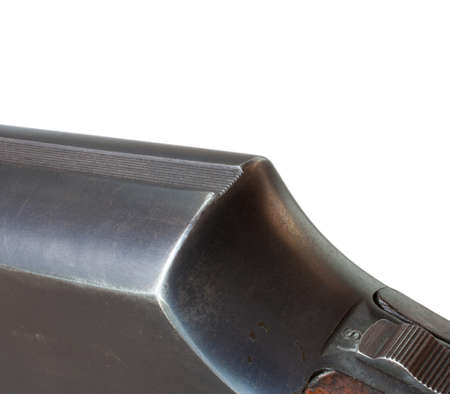 notch: Notch at the rear of the shotgun that is used for sighting