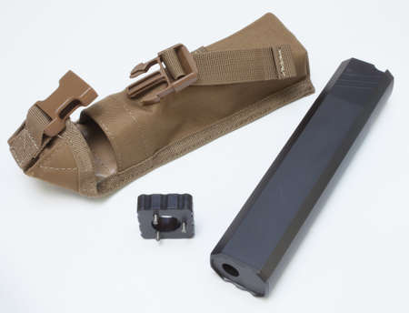 the silencer: Silencer and take down tool with a carrying case
