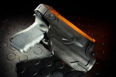 Polymer funda pistola que está diseñado para hacer cumplir la ley Foto de archivo - 30021274