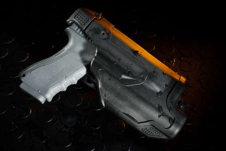 Polymer pistol holster that has three levels of retention for law enforcement