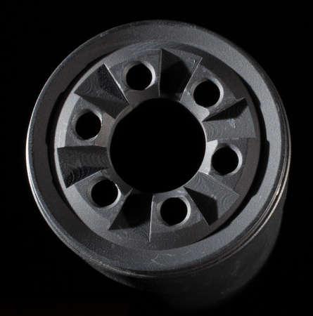 the silencer: Muzzle side of a silencer that can be taken apart for cleaning