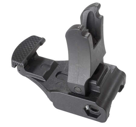 semi automatic: Front sights for a semi automatic rifle that are upright on white Stock Photo