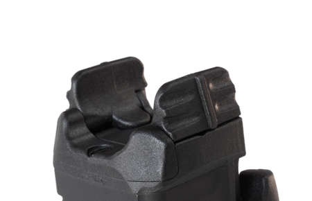 Polymer paddles that are used to turn on a guns laser and flashlight Banco de Imagens