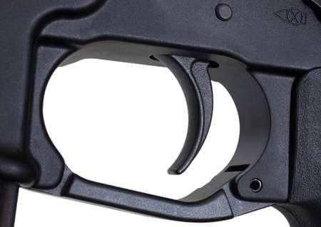 semi automatic: Metal trigger found on a modern semi automatic rifle