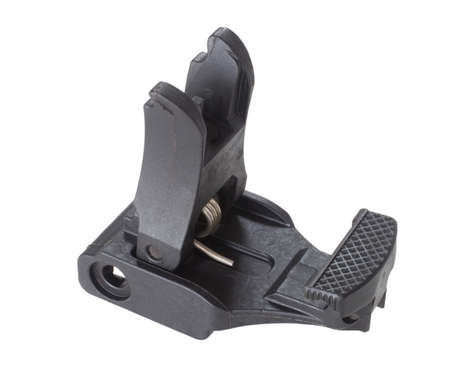 Front sights for an AR-15 that are upright isolated on white