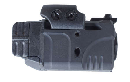 Side of a light and laser combination designed for a handgun