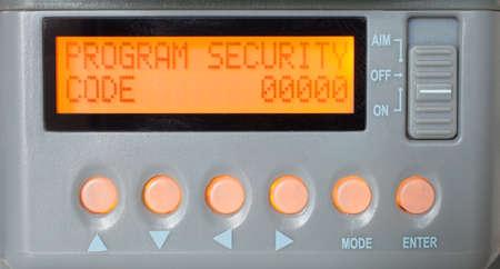 security code: Menu to program a security code into a game camera