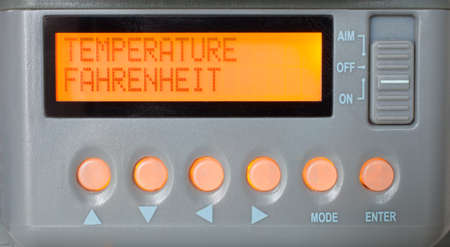 Input on a game camera to adjust temperature measurement