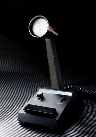 Desk mike designed for use with a two way radio photo