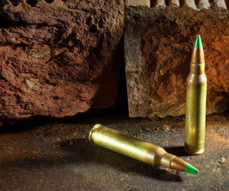 Green tipped cartridges that some consider armor piercing