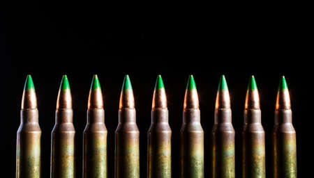 tipped: Green tipped bullets with steel insterts and the cartridges