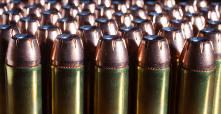 Group of hollow point bullets that run in a forty four magnum